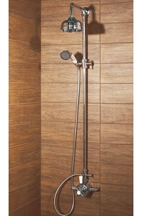 Balmoral Traditional Exposed Thermostatic Rigid Riser Shower